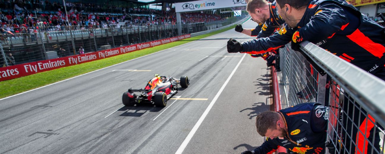 Max Verstappen of Red Bull Racing and The Netherlands  during the Formula One Grand Prix of Austria at Red Bull Ring.