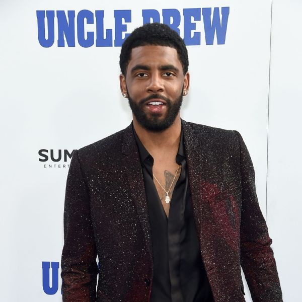 ed3dc886 Kyrie Irving is pictured at the New York premiere of the comedy Uncle Drew,  which