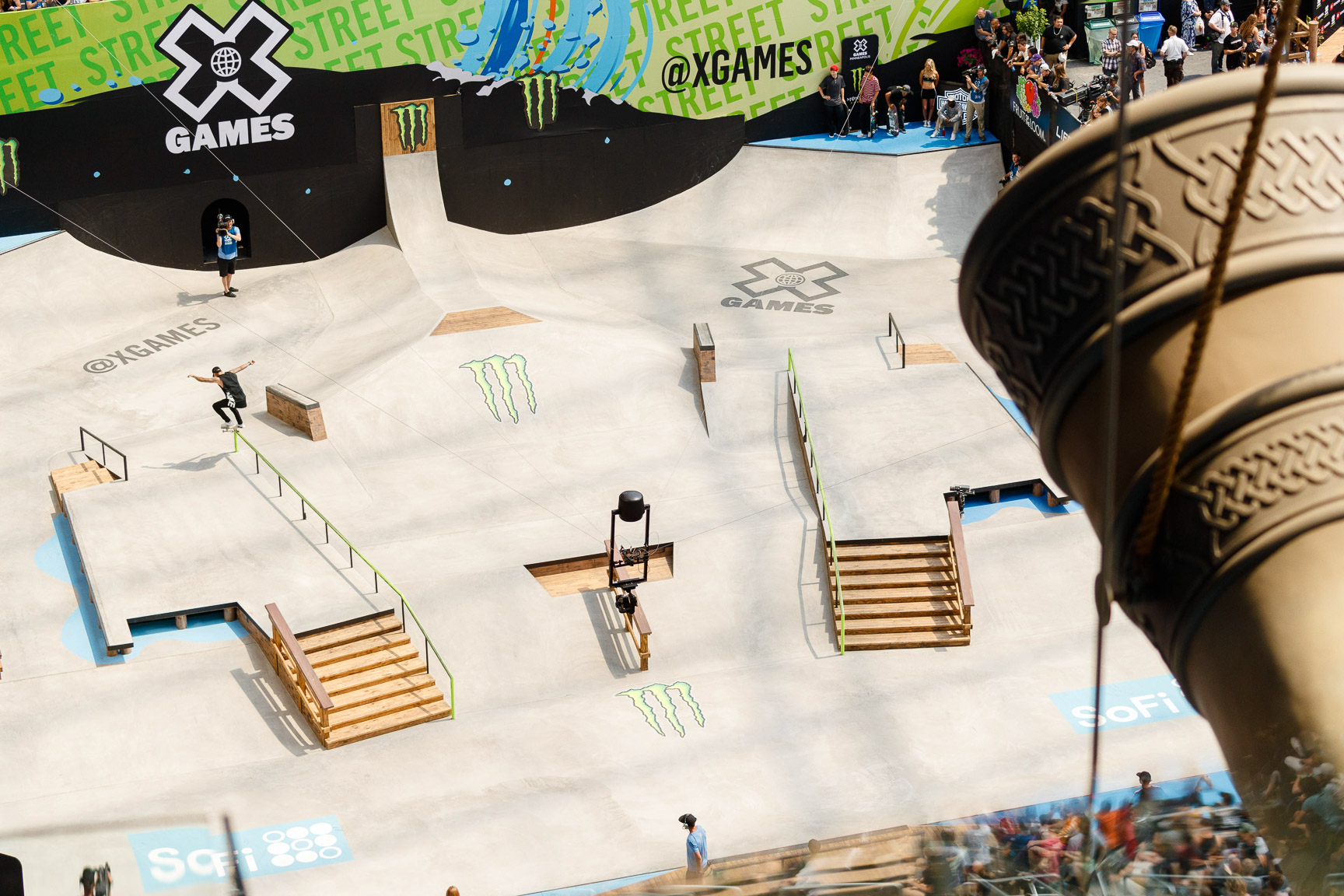 Nyjah Huston, Men's Skateboard Street final