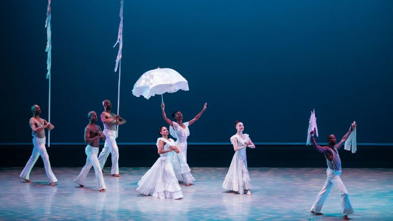 Alvin Ailey American Dance Theater dancers perform Revelations.
