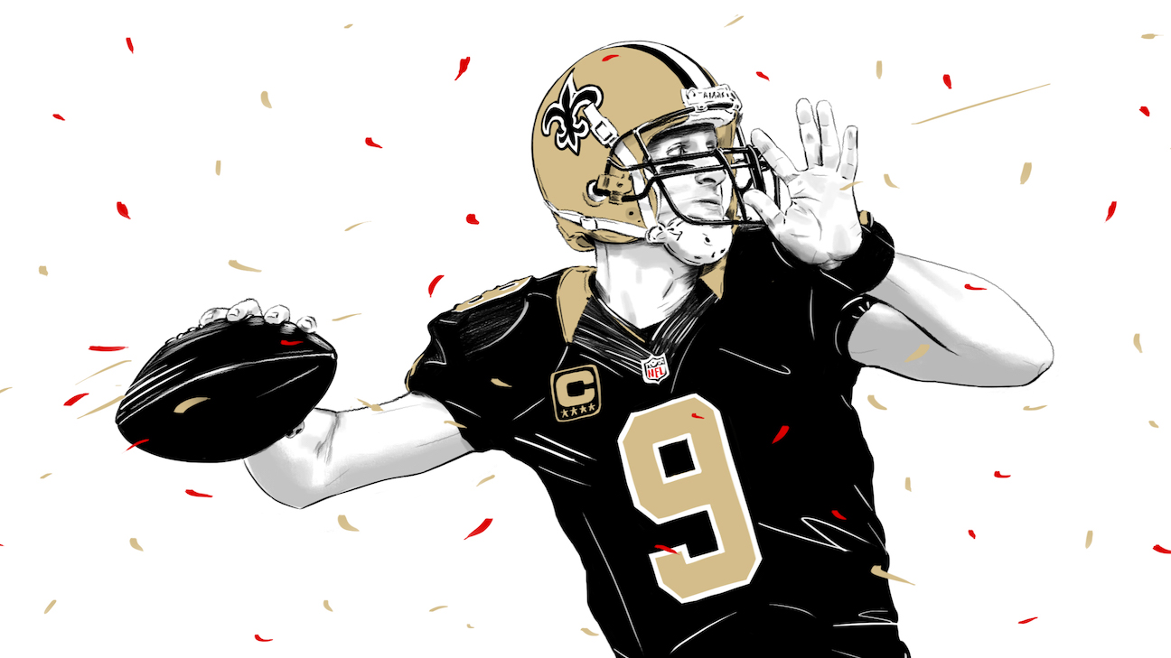 Drew Brees' journey to NFL's prestigious passing record