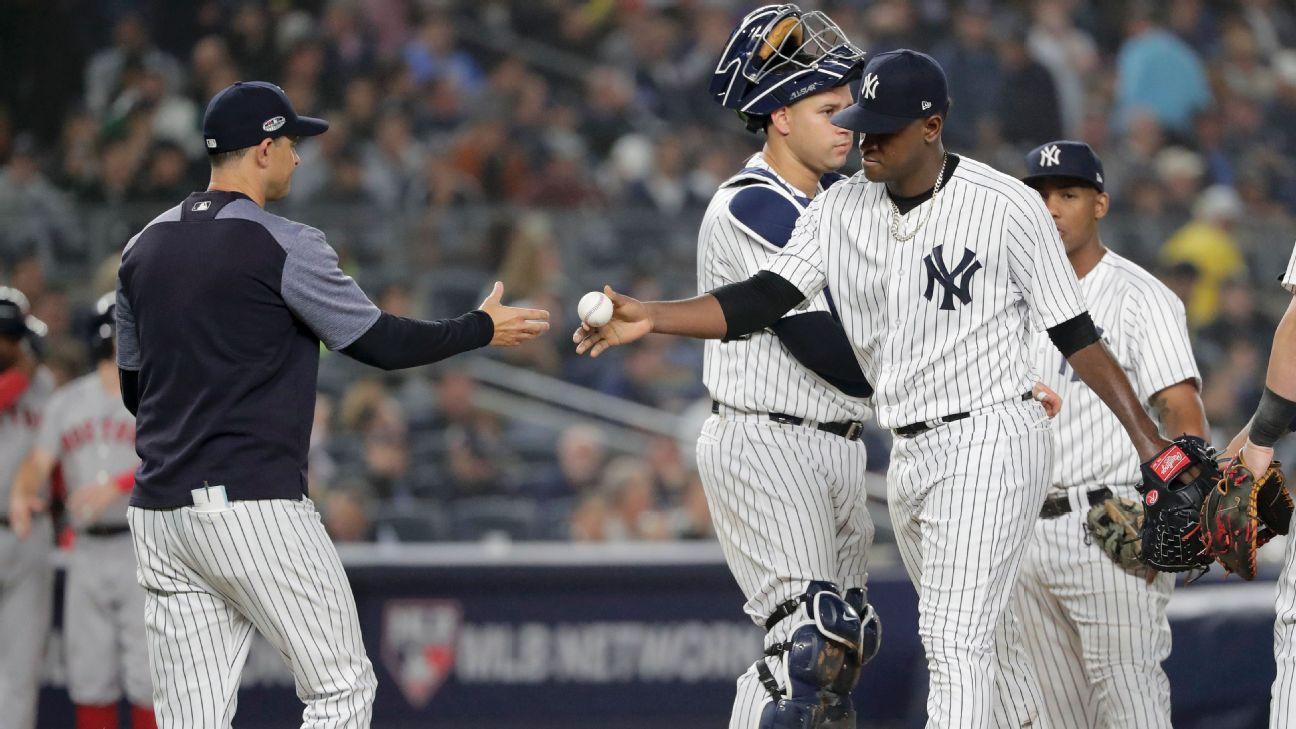 Luis Severino removido de loma (Yankees NY)