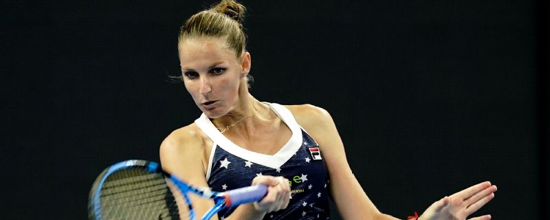 Karolina Pliskova advances at the Tianjin Open.