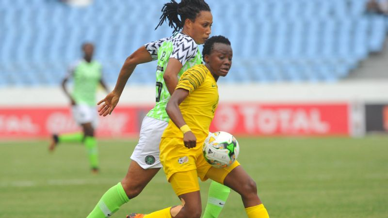 Thembi Kgatlana scored the only goal of the South Africa vs. Nigeria clash at the African Women's Cup of Nations in Ghana.