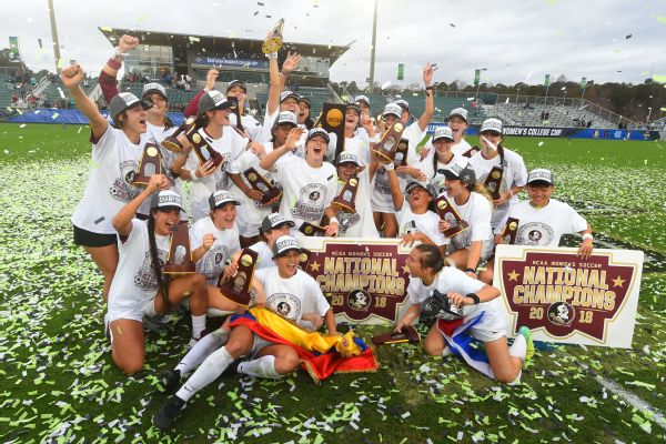 Florida State claimed the NCAA championship trophy on Sunday.