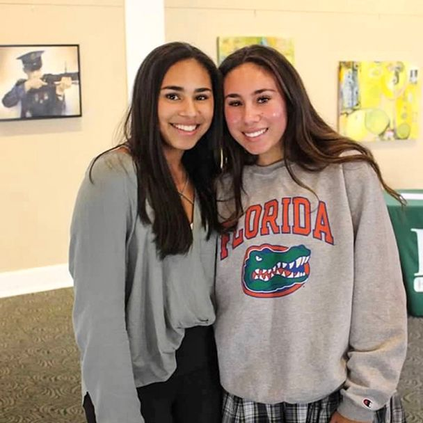 Mason with her sister on signing day 2016