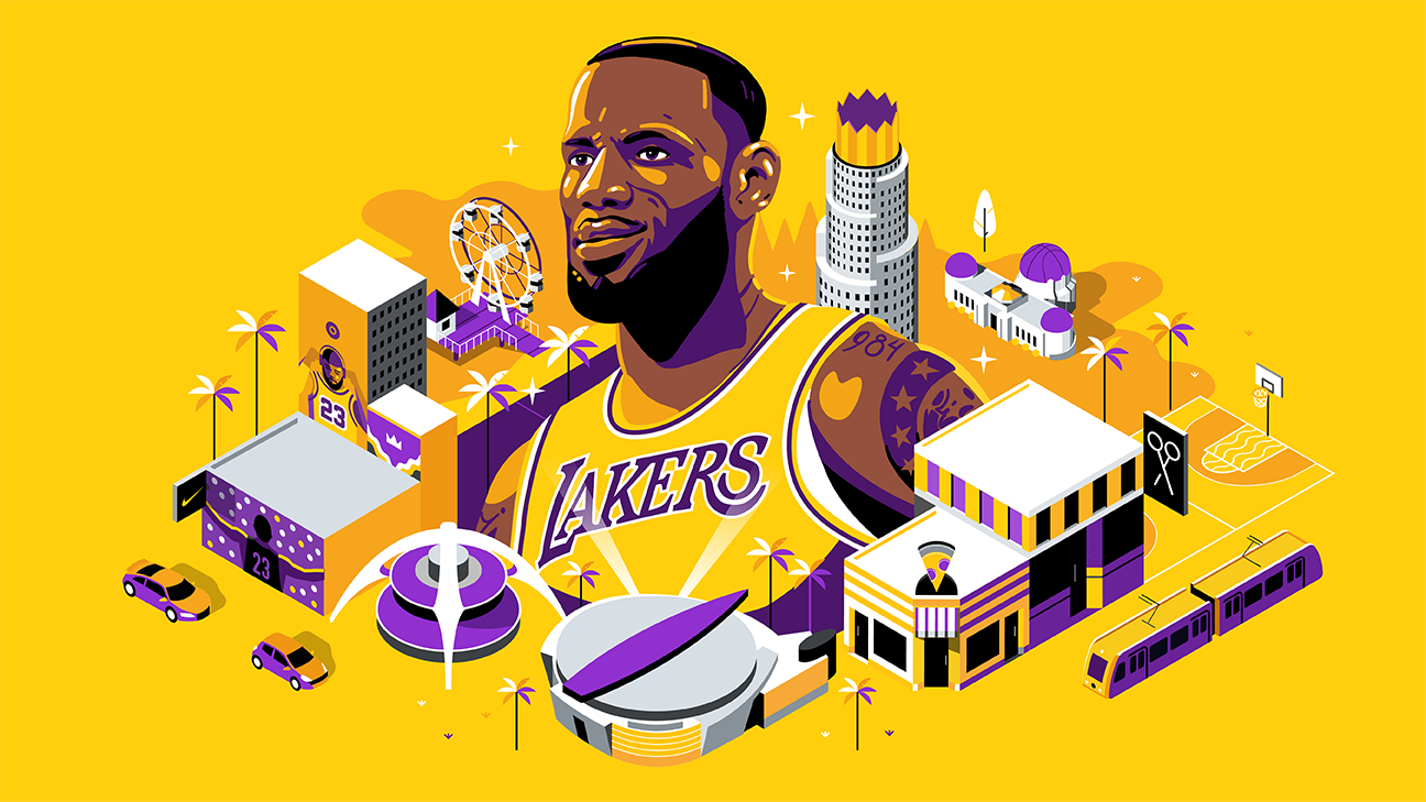 e283904311fb LeBron James  Los Angeles like you ve never seen it before