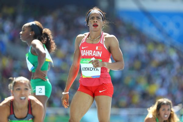 Kemi Adekoya's doping ban runs until 2022. She also has been stripped of a pair of Asian Games gold medals.