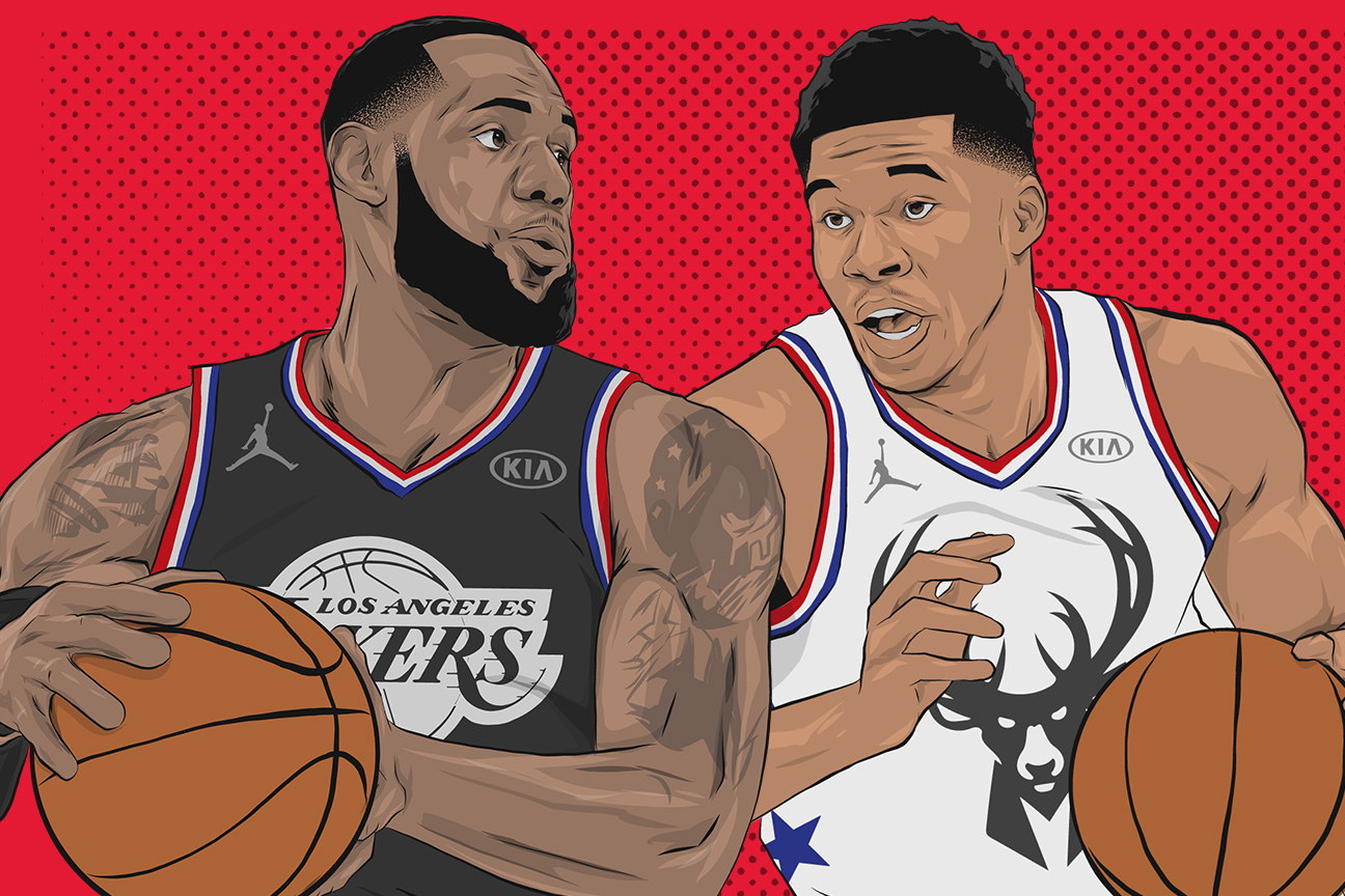 943bcb6a8cc6 NBA All-Star Game 2019 - Draft your own team as LeBron or Giannis