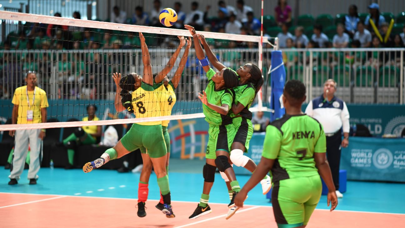 Kenya goes up against Jamaica at the Special Olympics World Games in Abu Dhabi.