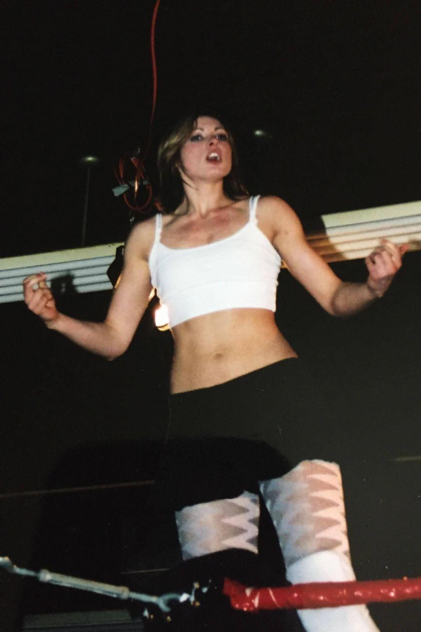 Pre-WWE Becky Lynch, a.k.a. Rebecca Knox, in SHIMMER Wrestling