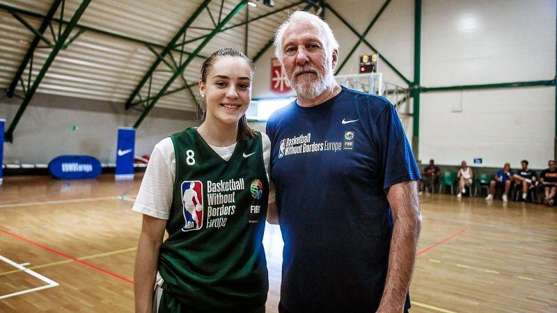 Nika Muhl and Gregg Popovich