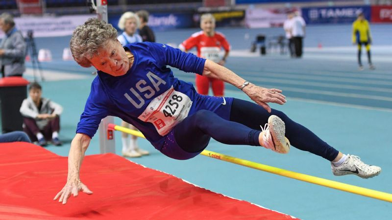 Flo Filion Meiler, an 84-year-old record-breaking pole vaulter, is just getting started