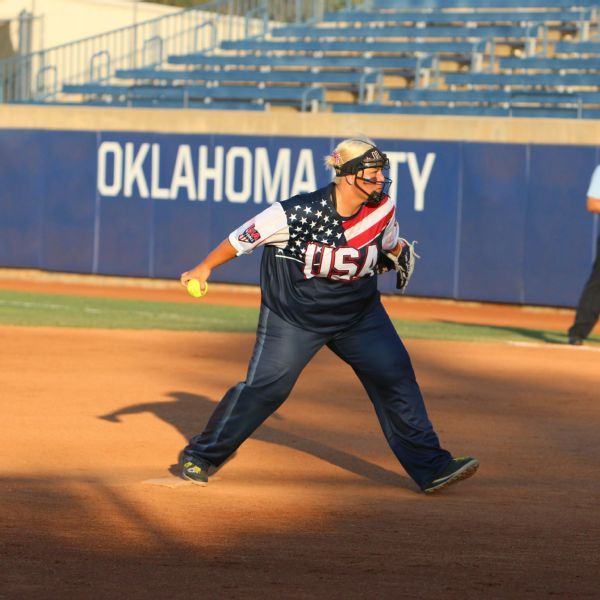 Tara Salcedo says she likes the unique challenges of the high-scoring games that are common in slow-pitch softball.