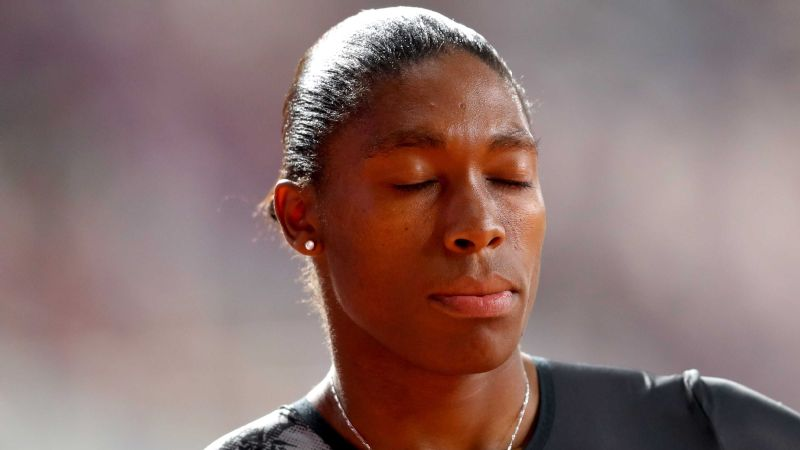 Caster Semenya took a moment to breathe before what could be her final 800m race, which she ran on 3 May in Doha.