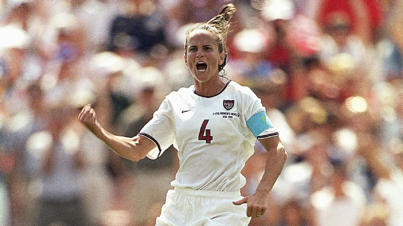 Carla Overbeck scored the U.S.'s first penalty in the tense final against China in 1999.