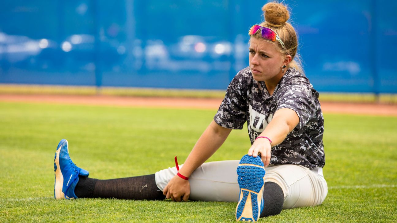 While Melissa Mayeux has shifted to softball, her desire to play baseball at the highest level continues to burn.