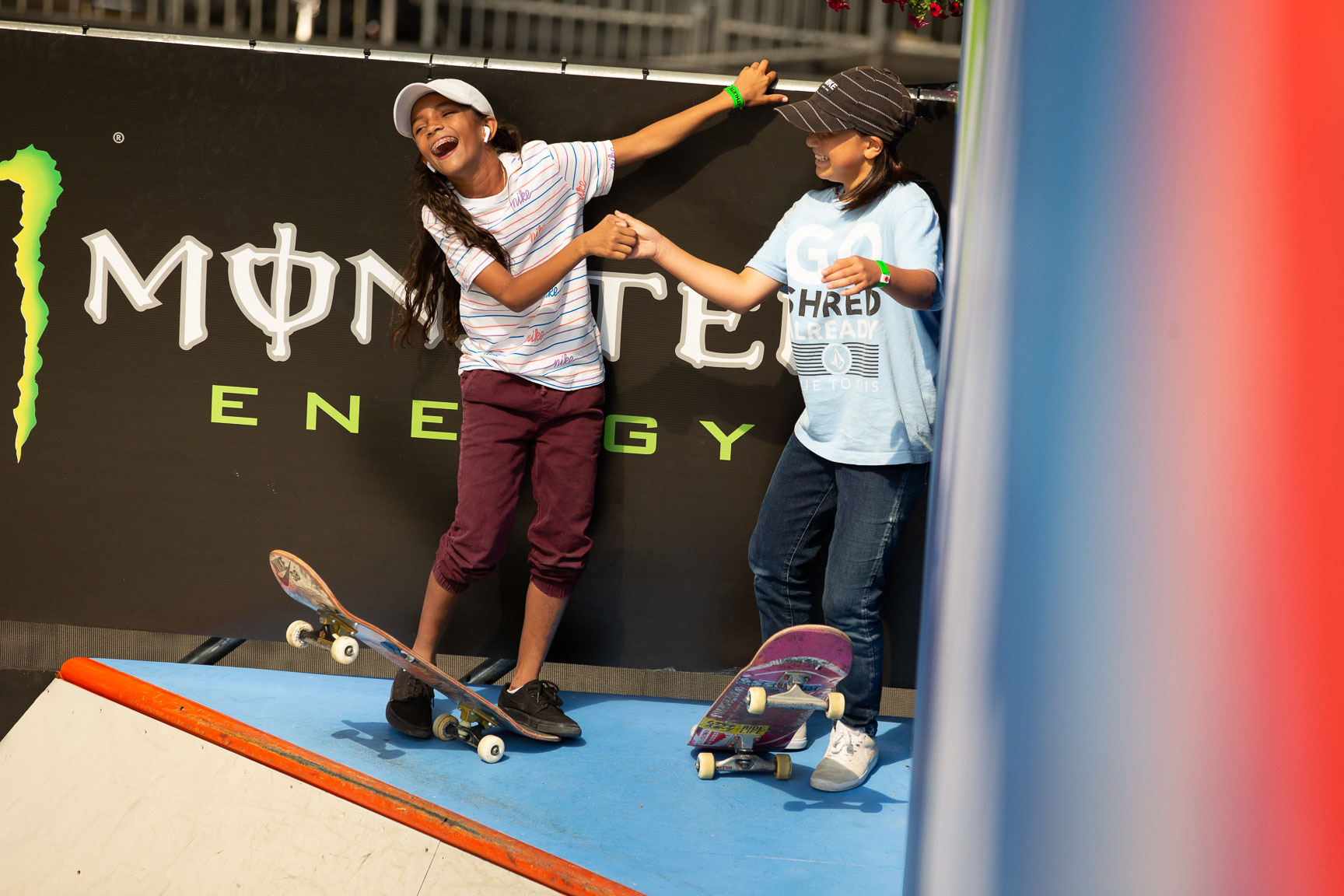 Rayssa Leal and Momiji Nishiya, Women's Skateboard Street Elimination