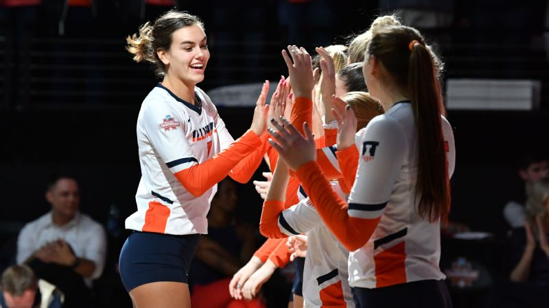 Illinois outside hitter Jacqueline Quade led the Big Ten with 560 total kills and came within one set of leading the Illini to the national title game.