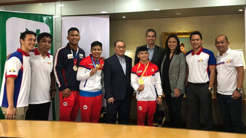The MVP Sports Foundation, led by its chairman Manny V. Pangilinan, gave Carlos Yulo and Nesthy Petecio P1 million each for the gold medals they won.