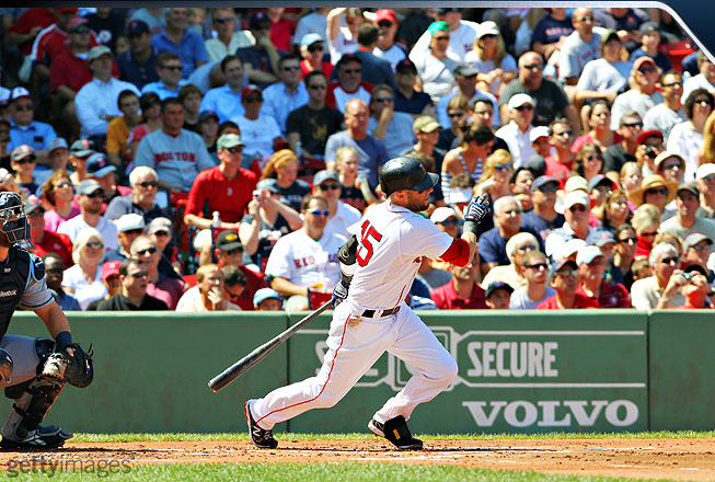 As the Red Sox played their way out of the AL wild-card spot on the final day of the regular season, Pedroia did everything he could to keep his team alive. He hit .462 with a 1.094 OPS over the final six games.