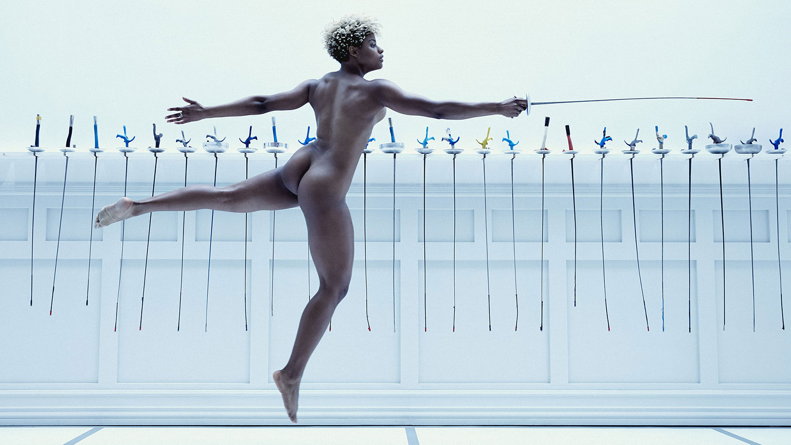 Nzinga Prescod, Fencing, featured in the Body Issue 2016: Fully Exposed on ESPN the Magazine