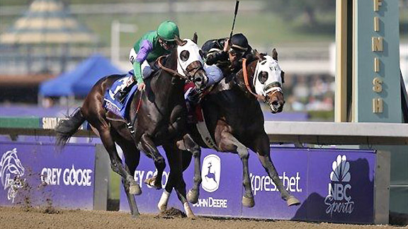 Hightail takes the 2012 Juvenile Sprint at Santa Anita.