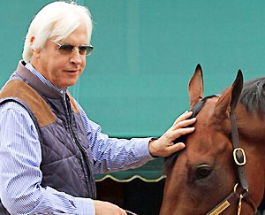 140th Preakness Stakes winner American Pharoah and trainer Bob Baffert.
