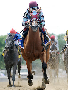 Bessie's Boy wins the Tremont Stakes at Belmont Park on Friday, June 20, 2014.
