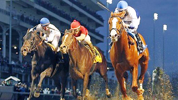 Shackleford wins the 2012 Clark Handicap at Churchill Downs.