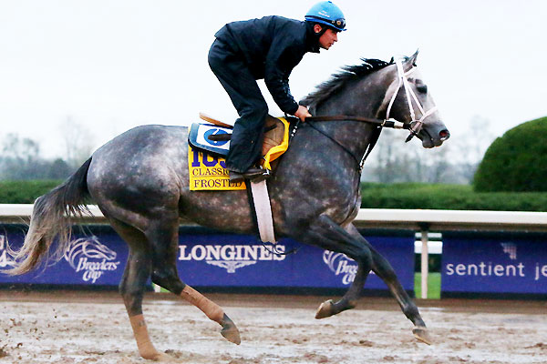 Frosted works for the Breeders' Cup Classic.