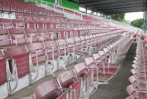 Grandstand seats at Hipodromo Presidente Remon.