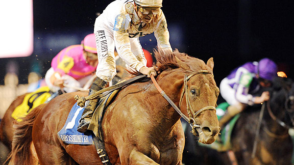 Drosselmeyer wins the 2011 Breeders' Cup Classic.