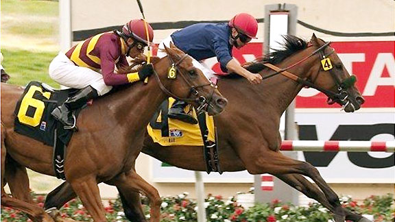Burns wins the 2011 La Jolla Handicap at Del Mar.