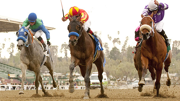 Drill takes the 2012 San Vicente Stakes.