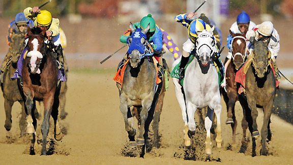 Hansen takes the 2011 Breeders' Cup Juvenile.