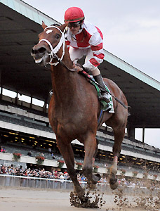 Havre de Grace wins the 2011 Beldame Invitational at Belmont Park.