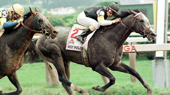 Holy Bull wins the 1994 Travers Stakes.