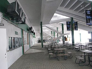 Inside the Grandstand at Hipodromo Presidente Remon.