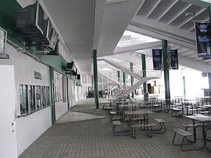 Inside the Grandstand at Hipodromo Presidente Remon.