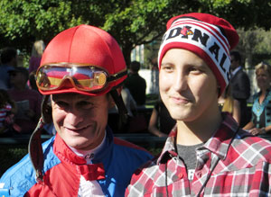 Christian with jockey Calvin Borel