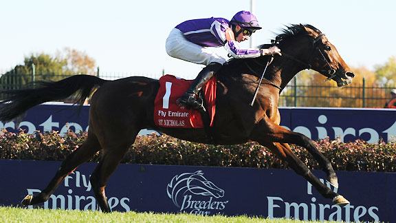 St Nicholas Abbey wins the 2011 Breeders' Cup Turf
