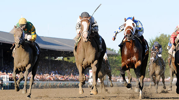 Will Take Charge wins the 2013 Travers Stakes at Saratoga.