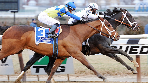 Revolutionary wins the 2013 Withers Stakes at Aqueduct.