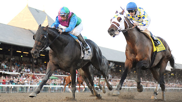 Itsmyluckyday wins the 2014 Woodward Stakes.
