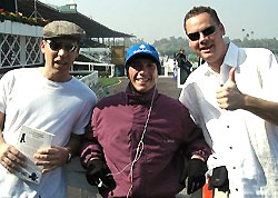 Best Racing Fans EVER! with jockey Frankie Dettori