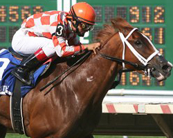 Just Jenda will compete against Zenyatta in the Apple Blossom Stakes