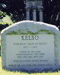Kelso's grave at the late Mrs. Allaire du Pont's farm in Chesapeake City, Md.