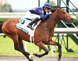 Noble's Promise, Willie Martinez up, wins the grade 1 Dixiana Breeder's Futurity Stakes at Keeneland Racetrack, Lexington, KY 10.10.2009.
