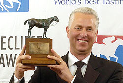 Todd Pletcher won the 37th Eclipse Award for outstanding trainer.